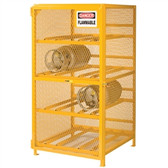 Little Giant GSH-36W-70H Gas Cylinder Storage Cabinet, Horizontal, 8 LPG Cylinders