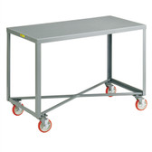 Little Giant Mobile Work Bench, Single Shelf Table, Steel, 24 x 60""