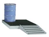 Little Giant Spill Control Platform, Low Platform, 4 Drum, 66 gal sump