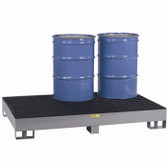 Little Giant Spill Control Platform, Forklift ready, 6 Drum, 99 gal sump