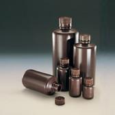 Nalgene 312004-0001 Bulk Amber Boston Round Bottle, 1oz (30mL) Heavy HDPE, case/1000