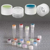 Nalgene 11mm Caps for Micro Vials, Color Coded Insert, Sterile, case/1000