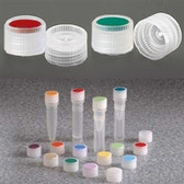Nalgene 11mm PPCO Caps for Micro Vials, Color Coded Insert, case/1000