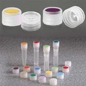 Nalgene 11mm HDPE, Caps for Micro Vials, Color Coded Insert, case/1000