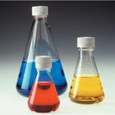 Nalgene PETG Lab Flask, Sterile, Disposable, Baffled, 4oz (125mL) case/24