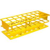Nalgene Test Tube Rack, Autoclavable, Yellow 30mm tubes, case/8
