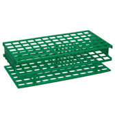 Nalgene 5976-0413 Test Tube Rack, Unwire, Green, PP 13mm, case/8