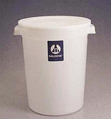 Nalgene Lab Storage Container, Round, w/Cover, HDPE, 15L, case/6