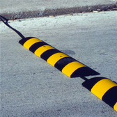 "Rubber Speed Bump, 4' x 12"" Easy Rider"