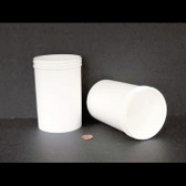 Bulk 20oz 89mm White Polypropylene Jars, 600mL (no caps) case/150