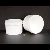 Bulk 24oz 120mm White Polypropylene Jars, 650mL (no caps) case/120
