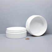 Bulk 6oz 100mm White PP Thick Wall Jars, 150mL (no caps) case/168