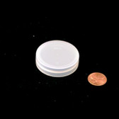 43mm (43-400) Natural Polypropylene Foam Lined Smooth Cap