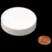 53mm (53-400) White Polypropylene Foam Lined Ribbed Cap