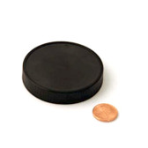 63mm (63-400) Black Polypropylene Unlined Ribbed Cap