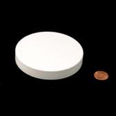89mm (89-400) White Polypropylene Pressure Sensitive Lined Smooth Cap