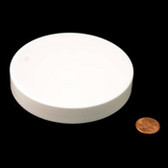 100mm (100-400) White Polypropylene Foam Lined Smooth Cap