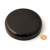 120mm (120-400) Black Polypropylene Unlined Domed Cap