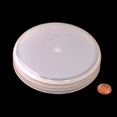 120mm (120-400) Natural Polypropylene Unlined Domed Cap