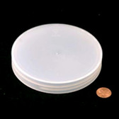 120mm (120-400) Natural Polypropylene Foam Lined Ribbed Cap