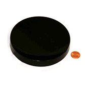 120mm (120-400) Black Polypropylene Heat Seal Lined Smooth Cap
