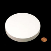 120mm (120-400) White Polypropylene Unlined Smooth Cap