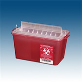 Sharps Container, 4 qt. Red, Horizontal Entry, case/25
