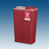 Sharps Container, 14 qt. Red Big Mouth, case/10