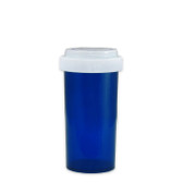 Economy Rx Blue Vials, Child Resistant, Reversible, 40 dram (150cc) case/130