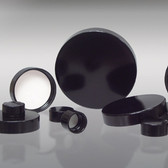 38-400 Black Phenolic Bottle Cap, Vinyl Lined
