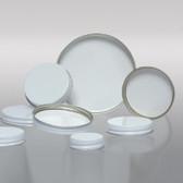 48-400 White Metal Cap, Pulp Polyethylene Lined
