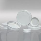 48-400 White Metal Cap, Plastisol Lined