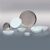 58-400 White Metal Cap, Aluminum Foil Lined