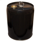 Basco TH5-24RI-B2 5 gal steel drum, Tight head, Black Pail, Cap