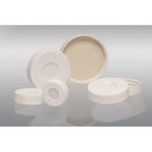 28-400 White Hole Cap, Bonded, PTFE/Silicone Septa, case/120