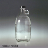 Glass Jug, 2 Liter (64 oz) Clear, No Caps, case/6