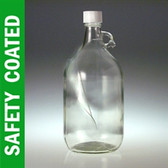 Safety Coated Glass Jug, 2500mL (84 oz) No Caps, case/6
