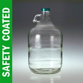 Glass Jug, 4 Liter (3840mL/ 128oz) Safety Coated, No Caps, case/4