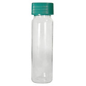 Glass Vials, Clear Screw Top 4 dram, 18-400 Green, PTFE Lined Cap, case/144