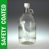 Safety Coated Jug, 2500mL, White HDPE, Foam Lined Cap, case/6
