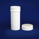 White Polypropylene Jar, Unlined PP Caps, 1 oz (30mL), case/96