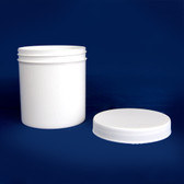 White Polypropylene Jar, Unlined PP Caps, 4 oz, case/60
