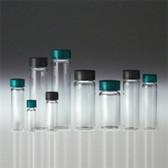 Glass Vials, Clear Screw Top, 3 dram, 14B Rubber Lined Cap, case/144