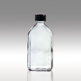 Oval Glass Pharmacy Bottle, Vinyl Lined Caps, 6oz, case/48