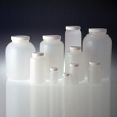 HDPE, Wide Mouth Round Bottle, 2000mL, White Foam Lined Cap, case/6