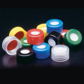Pre-assembled Hole Cap, PTFE/Silicone Septa, 9mm, case/1000
