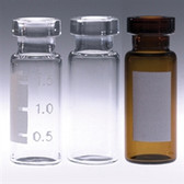 Amber Autosampler Crimp Top Vials, 2mL, case/1000