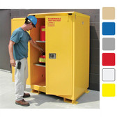 A190WP1 Weatherproof outdoor cabinet, 90 gal Self Closing, 2-Door