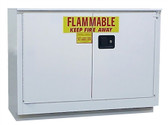 Securall L136 Under-Counter Flammable Cabinet, 36 gal Self Close Standard 2-Door White