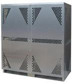 Securall LPOGS, Vertical Cylinder Storage Cabinet, 18 LP, Aluminum